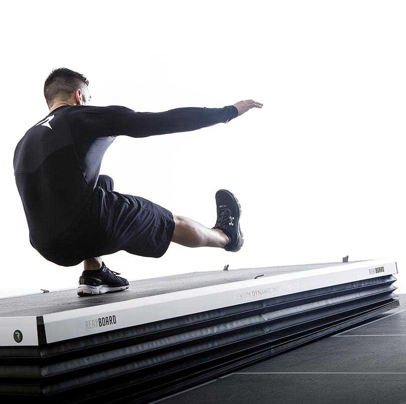 athletes on reax board floor play exercice