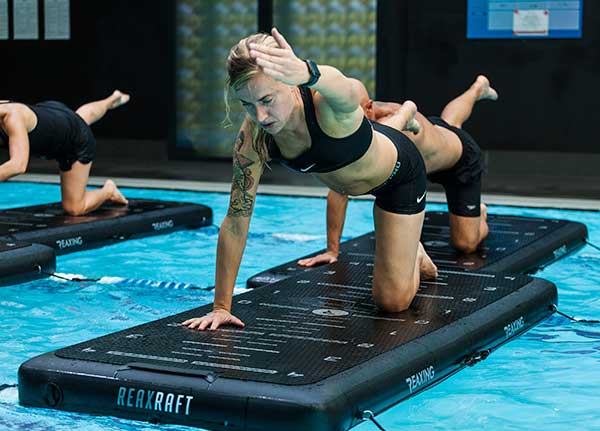 RAP reax raft Agua Pilates Training program